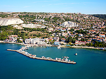 Town of Balchik with marina